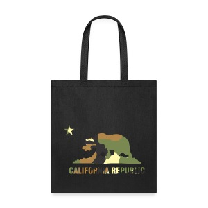 CALIFORNIA REPUBLIC Bear Camoflage - Tote Bag