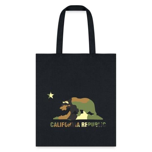 CALIFORNIA REPUBLIC Bear Camoflage - Tote Bag