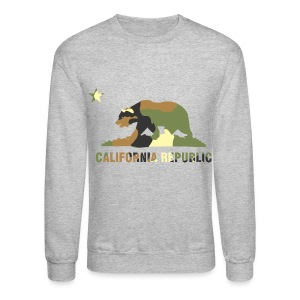 CALIFORNIA REPUBLIC Bear Camoflage - Crewneck Sweatshirt