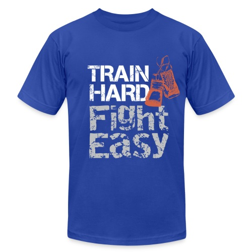 Train Hard - Men's Fine Jersey T-Shirt