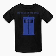 Tardis is bigger on the inside. Kids' Shirts
