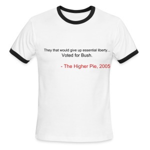 Official Higher Pie Ben Franklin Shirt (Editable!) - Men's Ringer T-Shirt