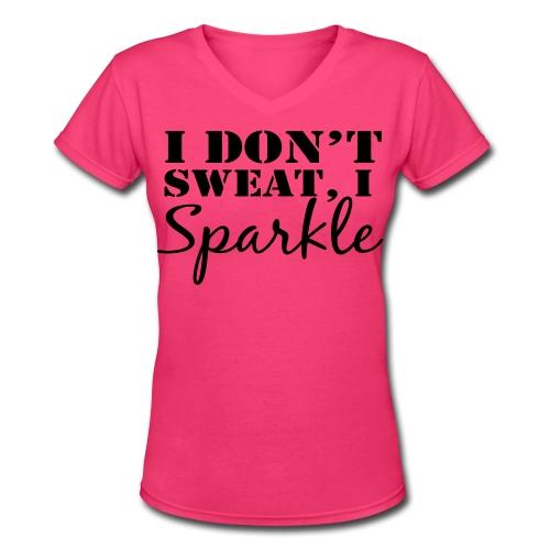 Design on back. - Women's V-Neck T-Shirt