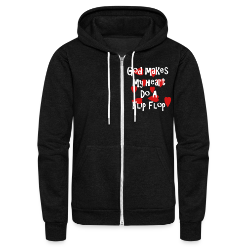 God makes my heart do a flip flop - Unisex Fleece Zip Hoodie