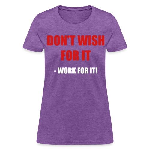 Design on back. - Women's T-Shirt