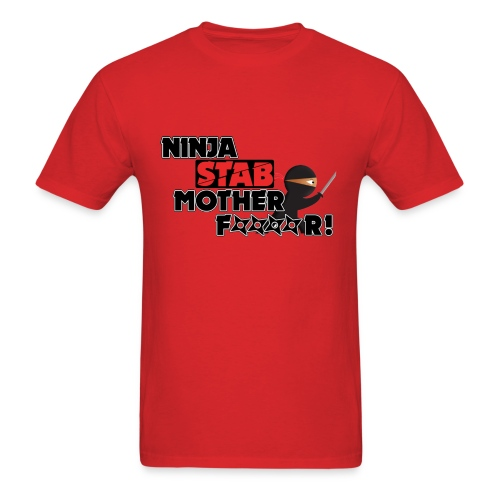 Ninja Stab Censored T-shirt - Men's T-Shirt