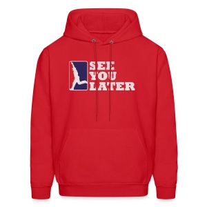 See You Later - Men's RED Hooded Sweatshirt - Men's Hoodie