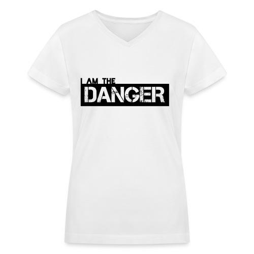 Breaking Bad: I am the Danger - Women's V-Neck T-Shirt