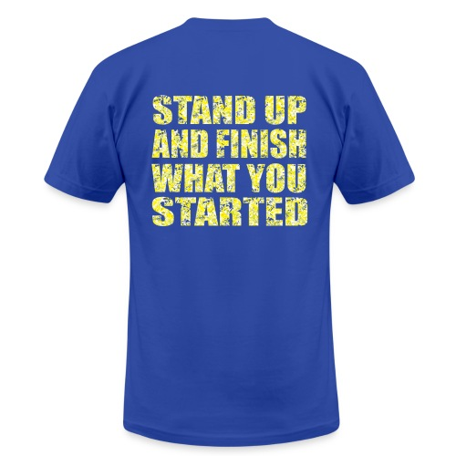 Stand Up (Back) - Men's Fine Jersey T-Shirt