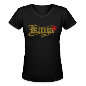 [W] Kaya Rose - Women's V-Neck T-Shirt