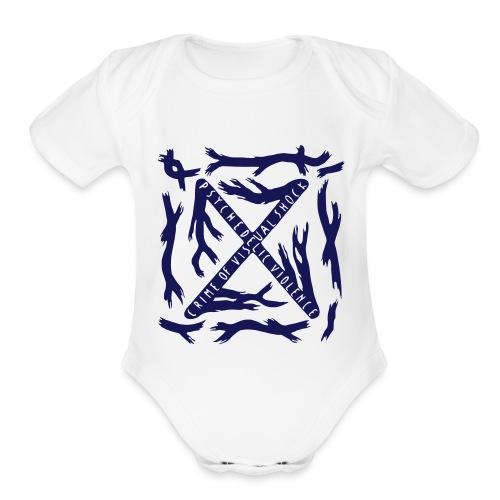 BLUE BLOOD Baby Onesie - Organic Short Sleeve Baby Bodysuit