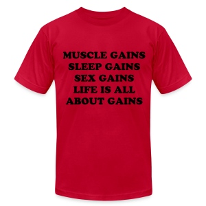Life Gains - Men's Fine Jersey T-Shirt
