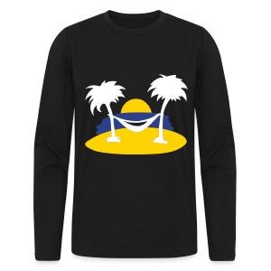 MENS NEW BLUE ISLAND T-SHIRT (NAVY) - Men's Long Sleeve T-Shirt by Next Level