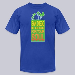 San Diego Is Good For Your Soul - Men's T-Shirt by American Apparel
