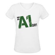 Women's T-Shirts ~ Women's V-Neck T-Shirt ~ Breaking Bad: Have an A1 Day Carwash T-Shirt