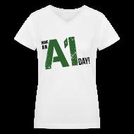 Women's T-Shirts ~ Women's V-Neck T-Shirt ~ Breaking Bad: Have an A1 Day Carwash T-Shirt