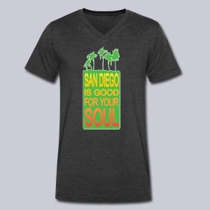 San Diego is Good For Your Soul - Men's V-Neck T-Shirt by Canvas
