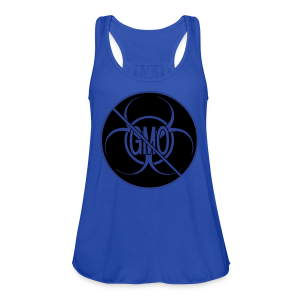 No GMO Tank Tops NO GMO Bio-hazard Shirts - Women's Flowy Tank Top by Bella