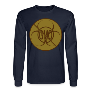 No GMO Shirt Mens' NO GMO Bio-hazard Shirts - Men's Long Sleeve T-Shirt