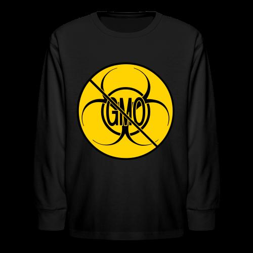No GMO Kids' Shirt NO GMO Bio-hazard Shirts - Kids' Long Sleeve T-Shirt