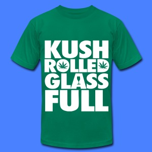 Kush Rolled Glass Full T-Shirts - Men's T-Shirt by American Apparel