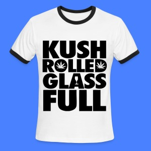 Kush Rolled Glass Full T-Shirts - Men's Ringer T-Shirt
