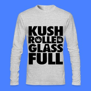 Kush Rolled Glass Full Long Sleeve Shirts - Men's Long Sleeve T-Shirt by Next Level