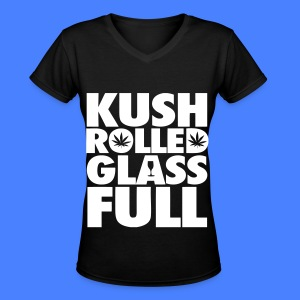 Kush Rolled Glass Full Women's T-Shirts - Women's V-Neck T-Shirt