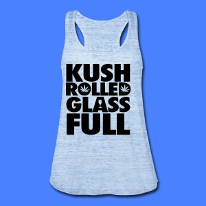 Kush Rolled Glass Full Tanks - Women's Flowy Tank Top by Bella