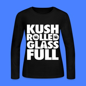 Kush Rolled Glass Full Long Sleeve Shirts - Women's Long Sleeve Jersey T-Shirt