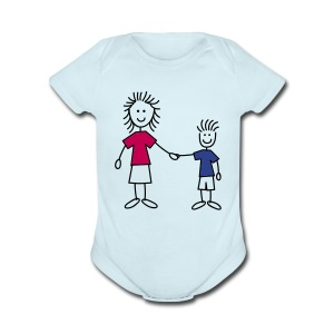 Stick Figure - Short Sleeve Baby Bodysuit