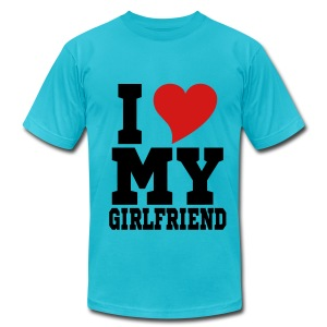 I heart my GF - Men's Fine Jersey T-Shirt