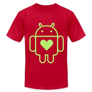 Droid's Heart - Men's Fine Jersey T-Shirt