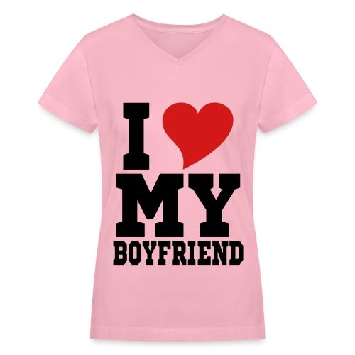 I heart my BF - Women's V-Neck T-Shirt