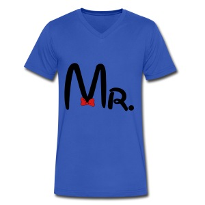 Mr. - Men's V-Neck T-Shirt by Canvas