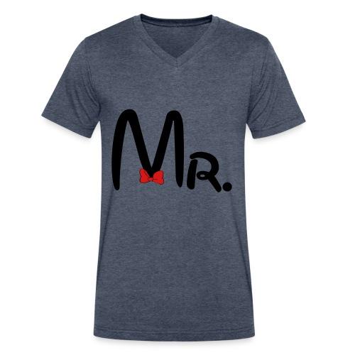 Mr. - Men's V-Neck T-Shirt by Canvas