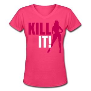 Kill It Bikini - Women's V-Neck T-Shirt