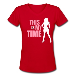 My Time Bikini - Women's V-Neck T-Shirt