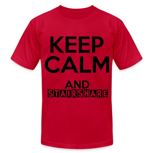 Keep Calm And Stairshare! - Men's Fine Jersey T-Shirt
