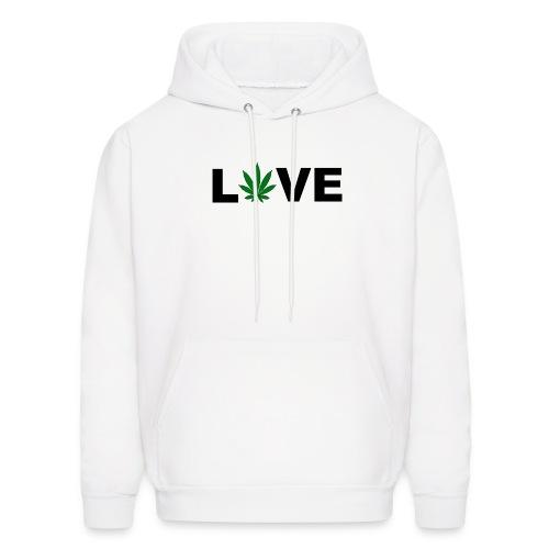 Love Weed Mens Hoodie - Men's Hoodie