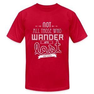 Not All Those Who Wander Are Lost - Men's Fine Jersey T-Shirt