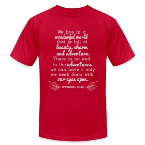 We Live in a Wonderful World - Men's Fine Jersey T-Shirt