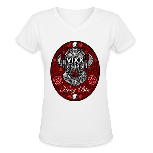 VIXX Stained Glass- Hong Bin - Women's V-Neck T-Shirt