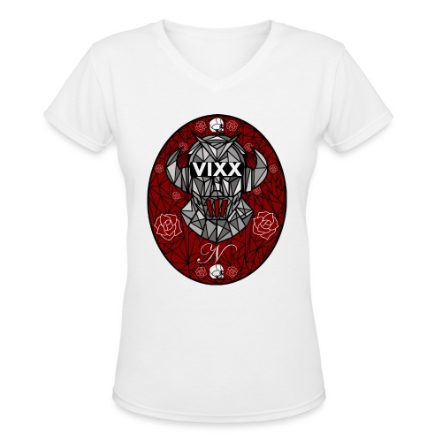 VIXX Stained Glass- N - Women's V-Neck T-Shirt