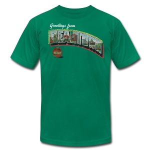 Vintage Greetings Boston - Men's T-Shirt by American Apparel