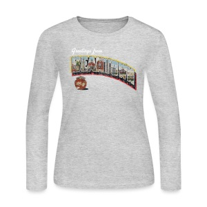 Vintage Greetings Boston - Women's Long Sleeve Jersey T-Shirt