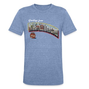 Vintage Greetings Boston - Unisex Tri-Blend T-Shirt by American Apparel
