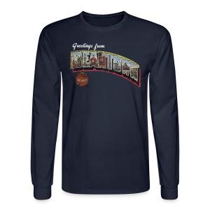 Vintage Greetings Boston - Men's Long Sleeve T-Shirt