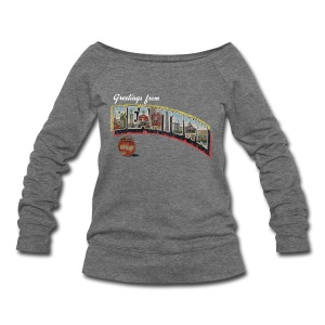 Vintage Greetings Boston - Women's Wideneck Sweatshirt