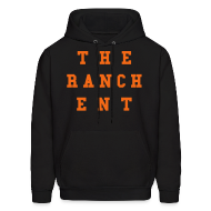 Hoodies ~ Men's Hoodie ~ Original Men's Hoodie 3 Orange on Black